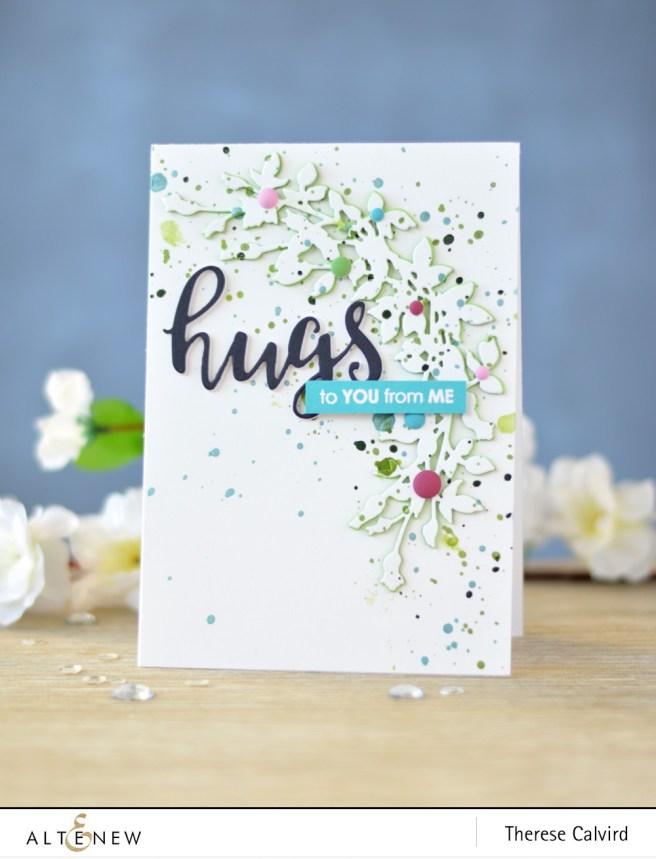 Altenew - Script Words Die - Leafy Garland Die - Handmade Tags - Lostinpaper (card) 1 copy