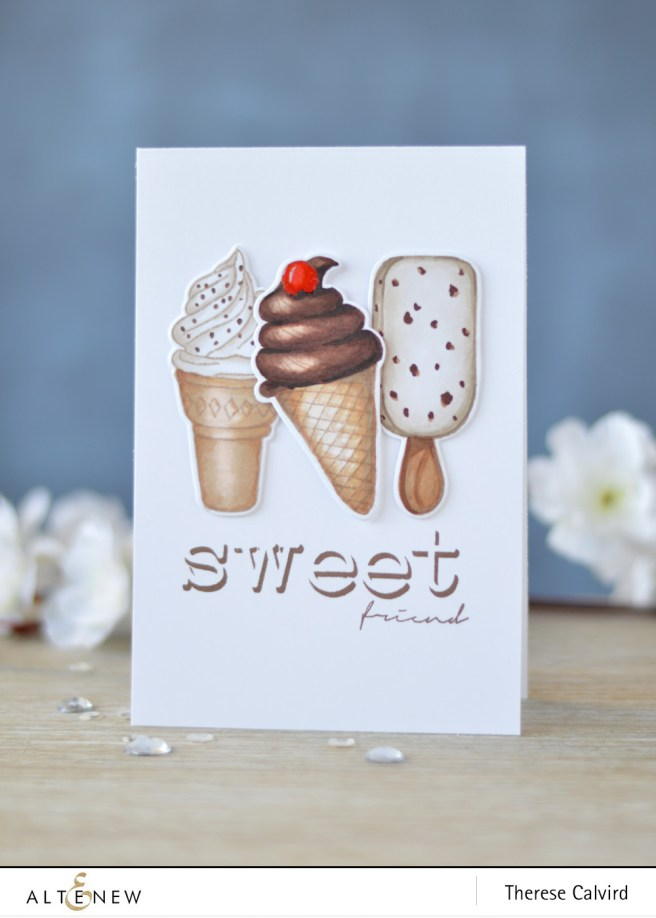 Altenew - Summer Swirls - Invisible Alpha - Thinking of You - Lostinpaper (card) 1 copy