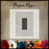 Paper Rose - Stitched Rectangles