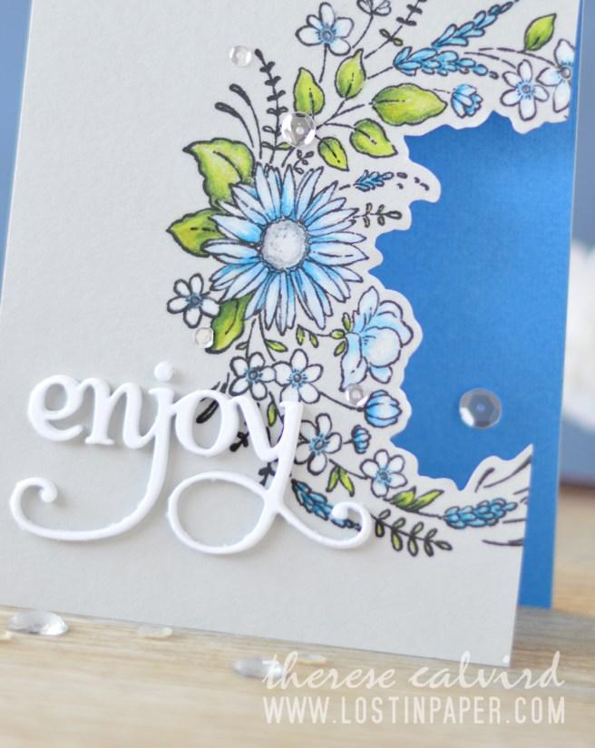 Lostinpaper - Penny Black - Flower Embrace - Hooray (card video) 1
