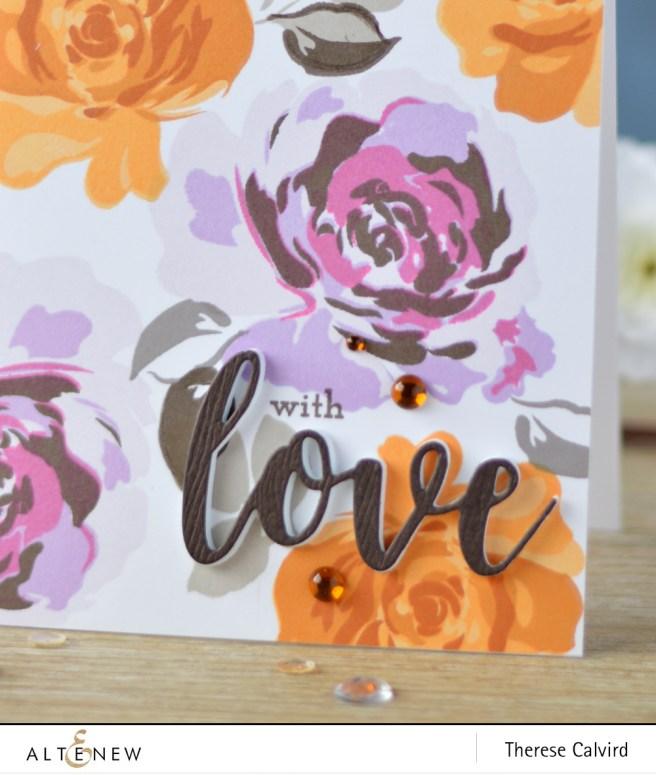 Altenew - Floral Fantasy - Super Script 2 - Lostinpaper (card video) 1 copy