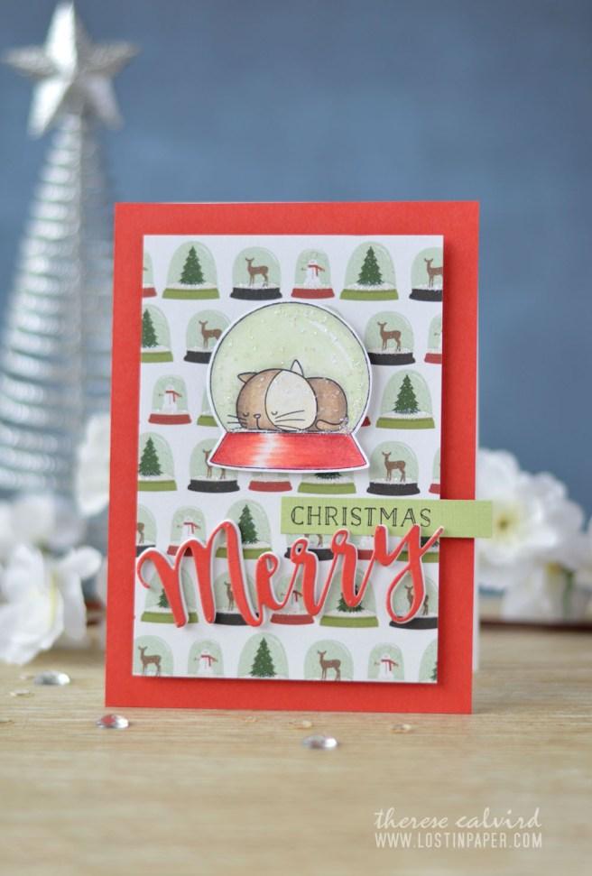 Lostinpaper - Cat Christmas - MFT - I Knead You (card video) 1