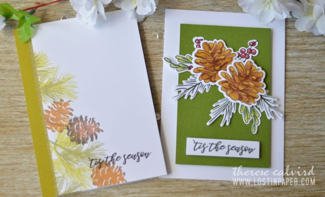 Lostinpaper - Penny Black - Natures Gifts - Altenew - Poinsettia & Pine (card video) 5