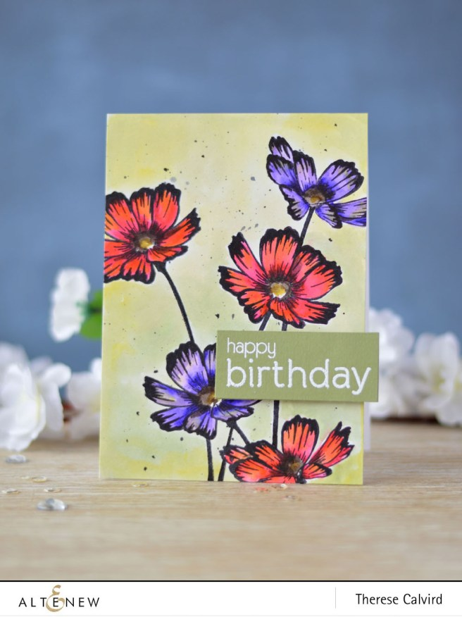 Altenew - Stunning Cosmos - Birthday Builder - Lostinpaper (card) - Copy copy