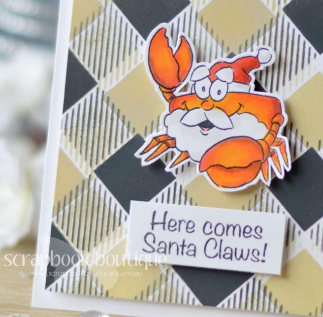 Lostinpaper - Art Impressions - Tropical Christmas - Echo Park - Plaid Stencil (card video) - Copy