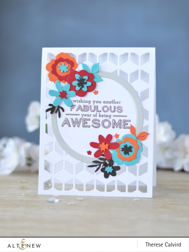 Altenew - Cube Cover Die - Create a Wreath Die - Birrthday Bash - Lostinpaper (card) 1 copy
