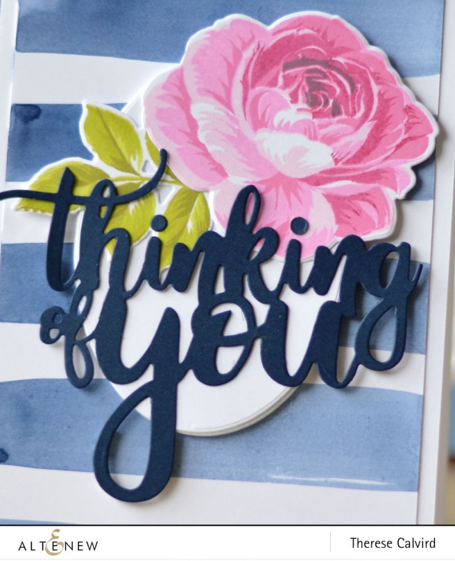 Altenew - BAF Rose - Thinking of You - Create a Wreath - Therese (card) 1 copy