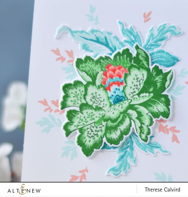 Altenew - Ornamental Flower - Adore You - Therese Calvird (card) 1 copy