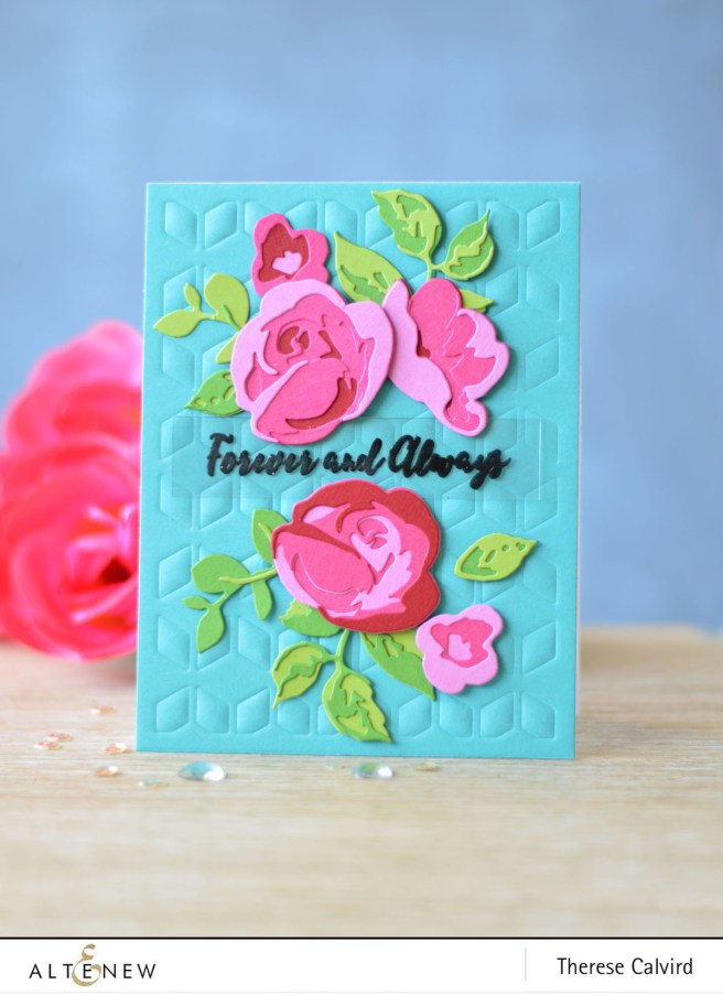 Altenew - Rose Flurries 3D Die - Cube Cover Die - Therese Calvird (card video) 2 - Copy copy