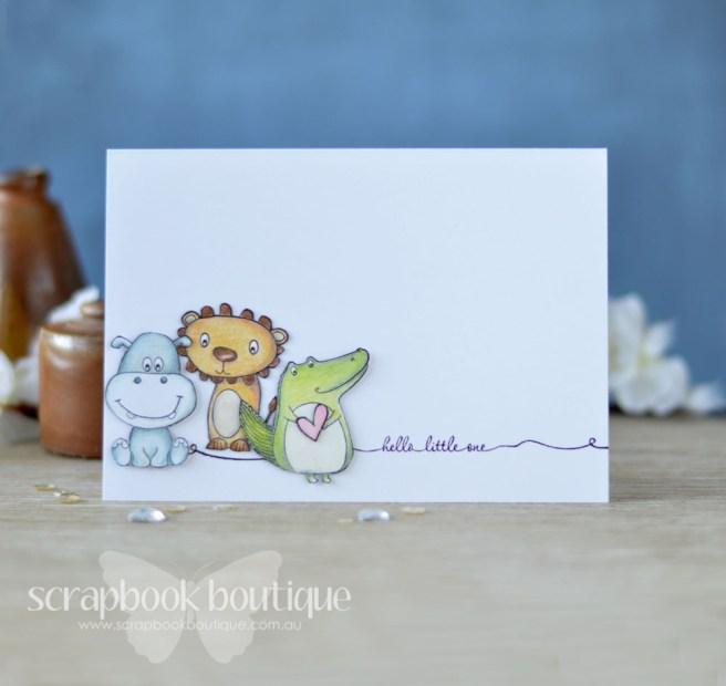 Lostinpaper - ModaScrap - Puppies Boy - Baby Card (card video) 1