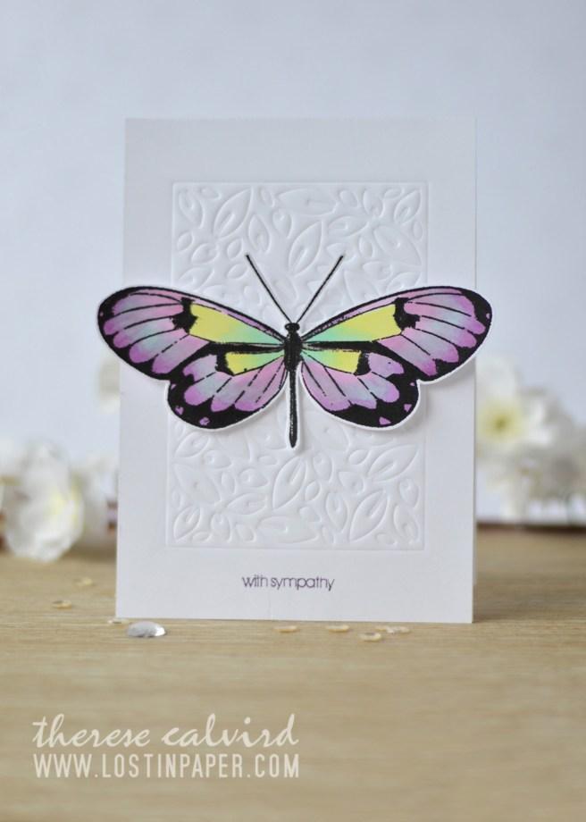 Lostinpaper - Penny Black - Leaf Pattern - Butterfly Trio - Gimme 5 (card video) 1
