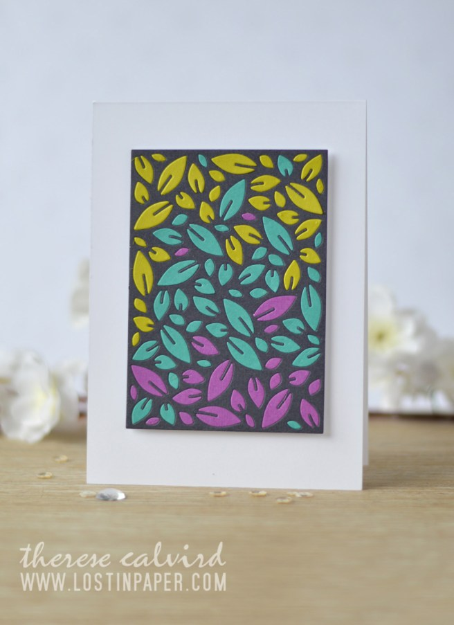 Lostinpaper - Penny Black - Leaf Pattern - Gimme 5 (card video) 1