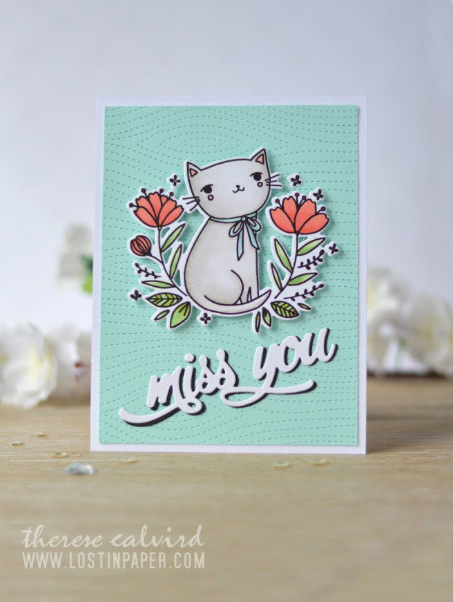 Lostinpaper - Waffle Flower - Smiling - Altenew - Miss You (card video) 1