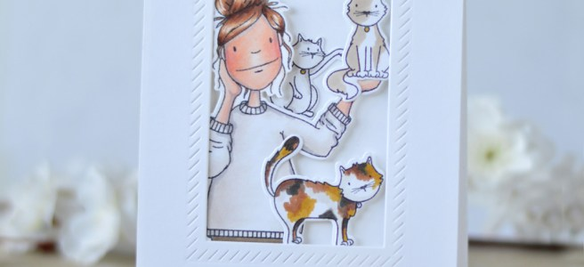 Therese Calvird - Ellen Hutson - Cat Lady, Hot Mess Lady (card video) 1 copy