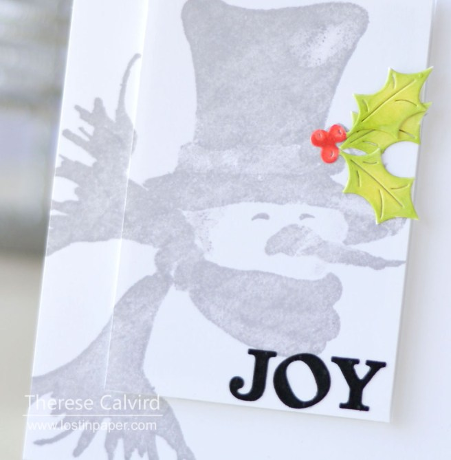 Lostinpaper - Penny Black - Bundled Up - Xmas Poinsettia (card video) 1