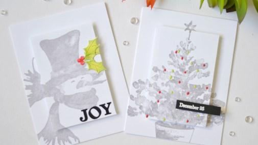 Lostinpaper - Penny Black Gimme 5 - CAS Christmas Highlight Cards (card video) (2) - Copy
