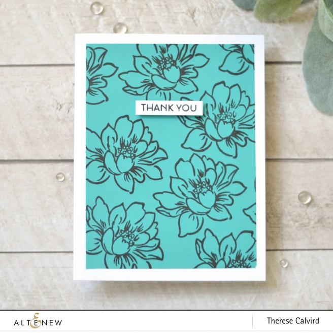 Altenew - Sunlit Flower Card Making Kit - Therese Calvird (card video) 1 copy