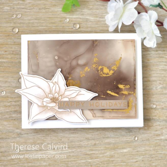 Lostinpaper - Altenew - Poinsettia - Lawn Fawn - Simply Winter Sentiments (card video) 1
