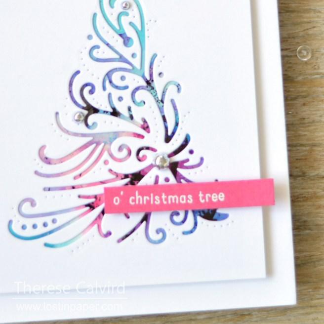 Lostinpaper - Penny Black - Reverse confetti - Triangle Trees (card video) 1