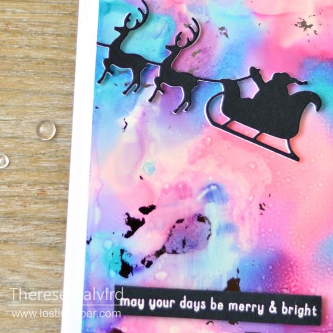 Lostinpaper - Penny Black - Santa's Sleigh - Reverse Confetti - Triangle Trees (card video) 1