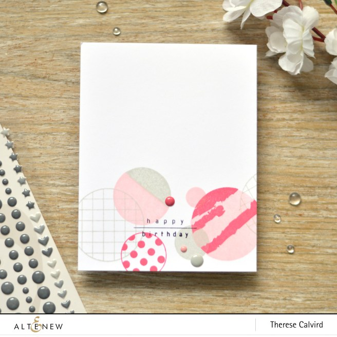 altenew - trendy circles - therese calvird (card) 1 copy