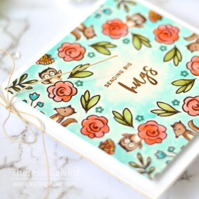 Lostinpaper - Gina K - Wreath Builder - Colour with U (card video) 1