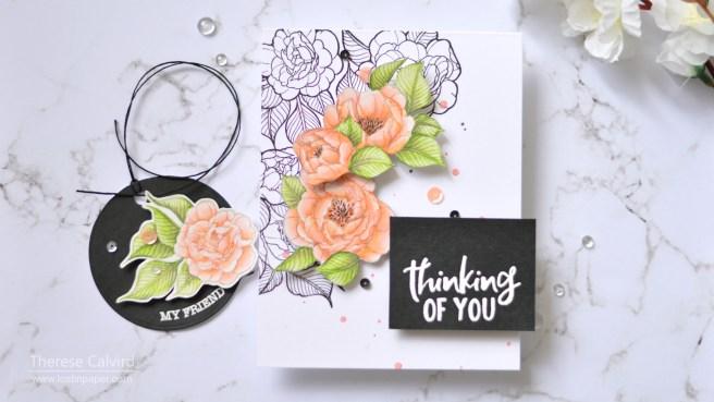 Lostinpaper - Spellbinders - Just Add Color - Peonies Bundle (card) 1