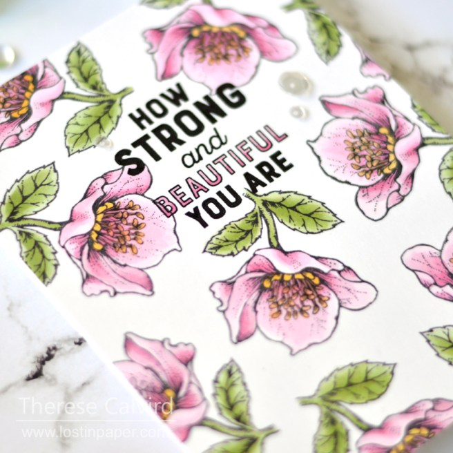 Lostinpaper - Power Poppy - Strong and Beautiful (card) 1