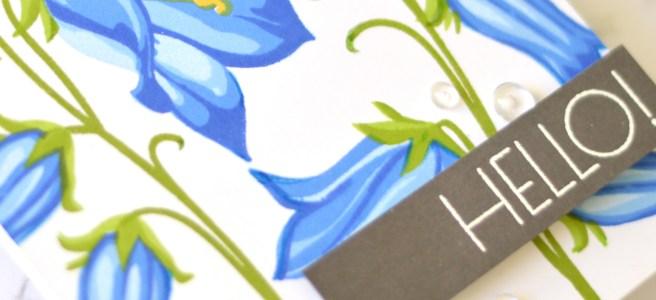 Altenew - BAF Bellflower - Geometric Flowers - Therese Calvird (card video) 1 copy