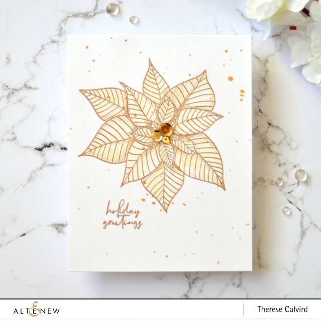 Altenew - Modern Poinsettia - Take 2 With Therese (card video) 7 copy