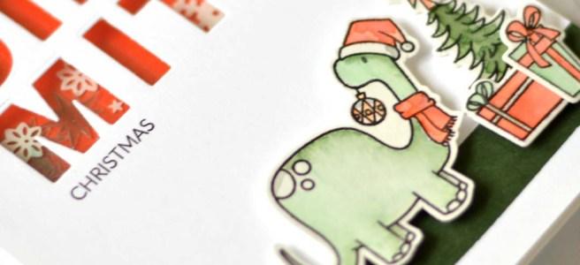 Lostinpaper - Ellen Hutson - Dinomite Christmas (card video) 2 copy