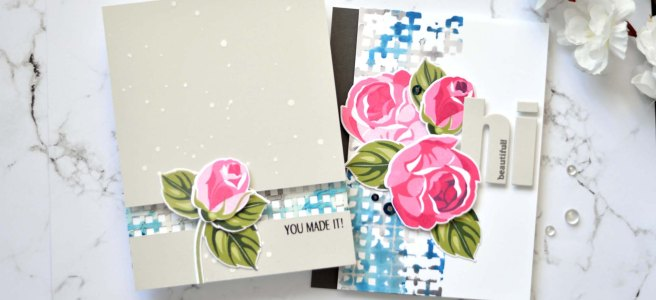 Altenew - Rosy Outlook - Graph Die Cut Tape - Take 2 with Therese (card video) (1) copy