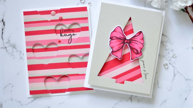 Altenew - Festive Foliage - Gradient Cardstock - Take 2 With Therese (card video) 6 copy