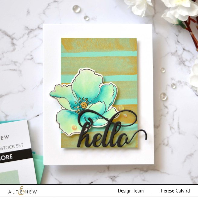 Altenew - Metallic Watercolor - Take 2 With Therese (card video) 7