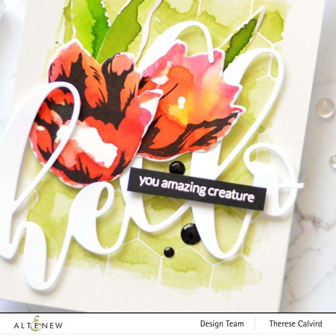 Altenew - BAF - Triumph Tulip - Mega Hello - Therese Calvird (card video) 1 copy