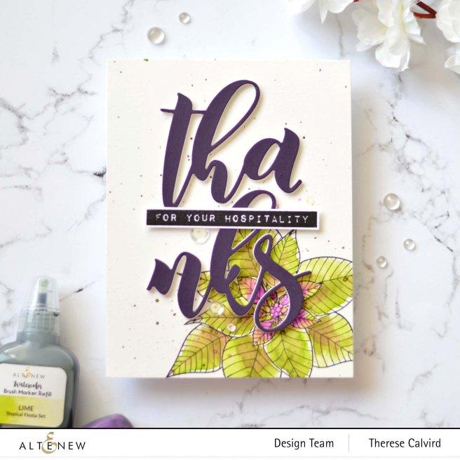 Altenew - Modern Poinsettia - Festive Poinsettia - Mega Thanks Die - Take 2 With Therese (card video) 1