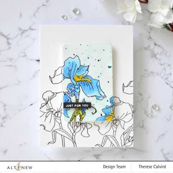 Altenew - Paint-A-Flower - Iris - Therese Calvird (card video) 1 copy