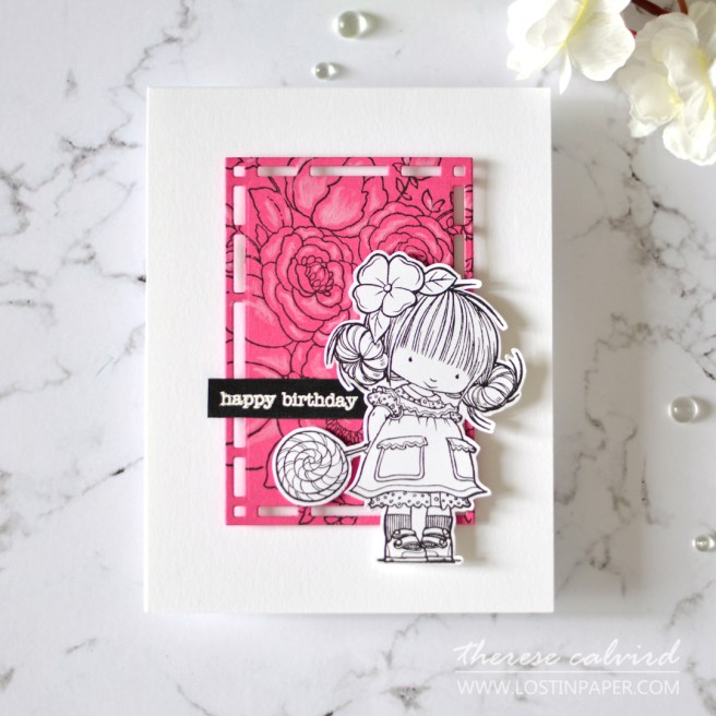 Therese Calvird - Gimme 5 Penny Black - Busy Backgrounds (card video) 1