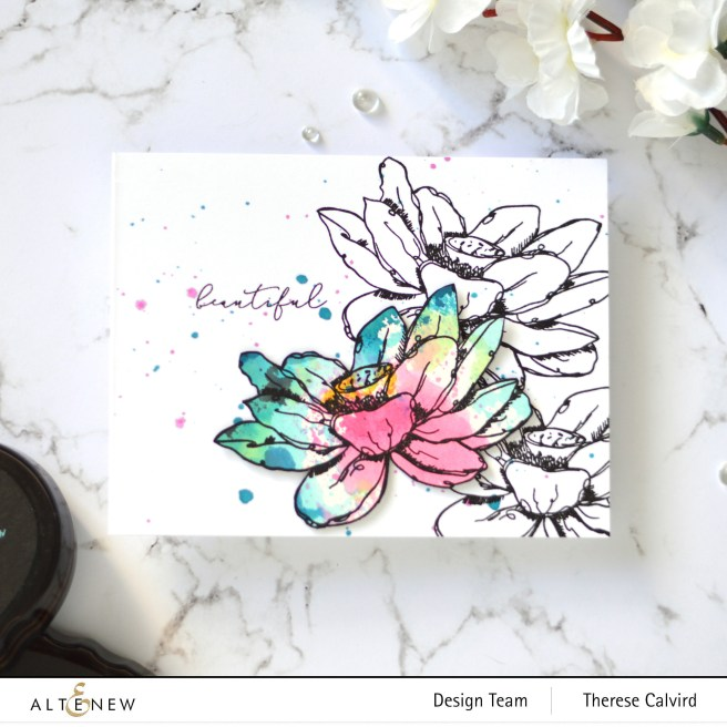 Altenew - Inked Lotus - Blossom Wreath - Take 2 With Therese (card video) 1