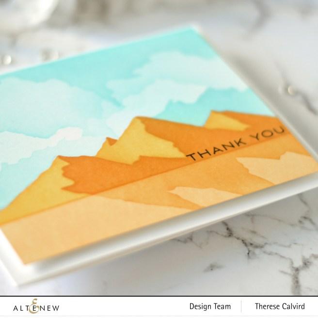 Altenew - Mountain Scene Stencil - Cloud Scene Stencil - Many Thanks 1 copy