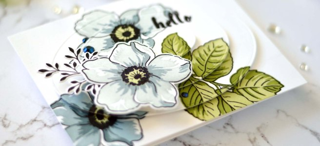 Altenew - Beauty Within - Simple Coloring Stencil - Nesting Ovals (card video) 1 - Copy
