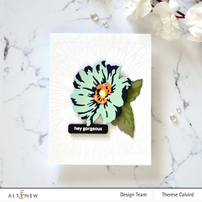Altenew - Layered Wood flower Die Set - Dotted Lines Debossing Cover Die - Featured Sentiments Die - Delicate Flower Bed 1 copy