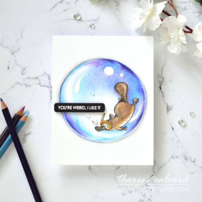 Lostinpaper - Uniquely Creative - You're Weird (card video) 3