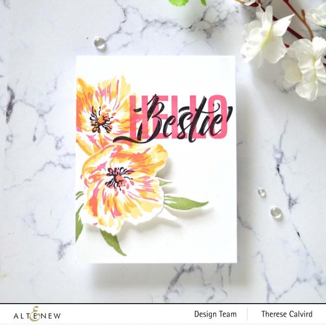 Altenew - Modern Hello - Fresh Bloom (card video) 1 copy