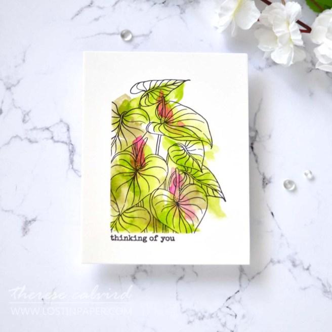 Lostinpaper - Ellen Hutson - Mondo Anthurium (card) 2