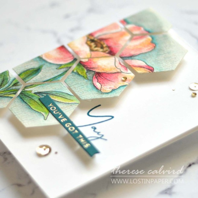 Lostinpaper - The Flower Challenge - Altenew Coloring Book (card) 3