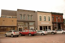 Downtown Woodbine, Iowa is going through a restoration period as buildings are spruced up, Friday, June 16, 2017. (photo by Jerry L Mennenga©)