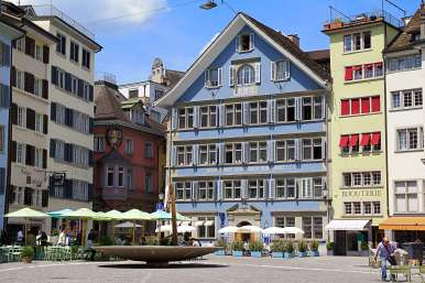 The beautiful Old Town of Zurich