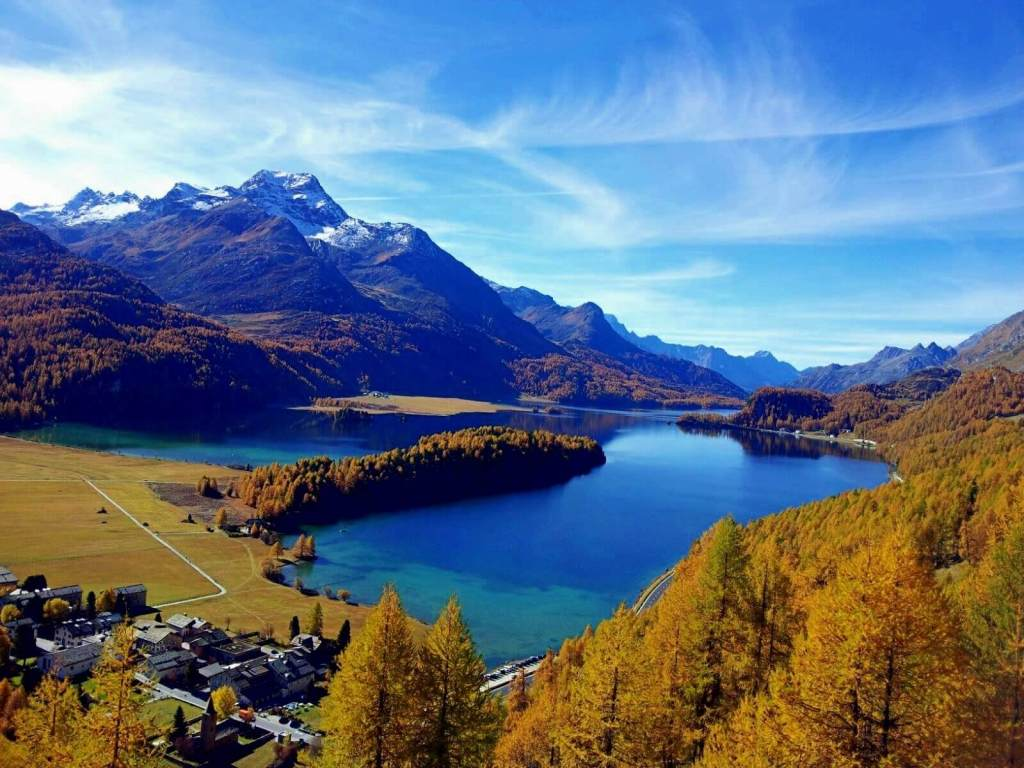 The Engadin is especially beautiful when the leaves change colour.