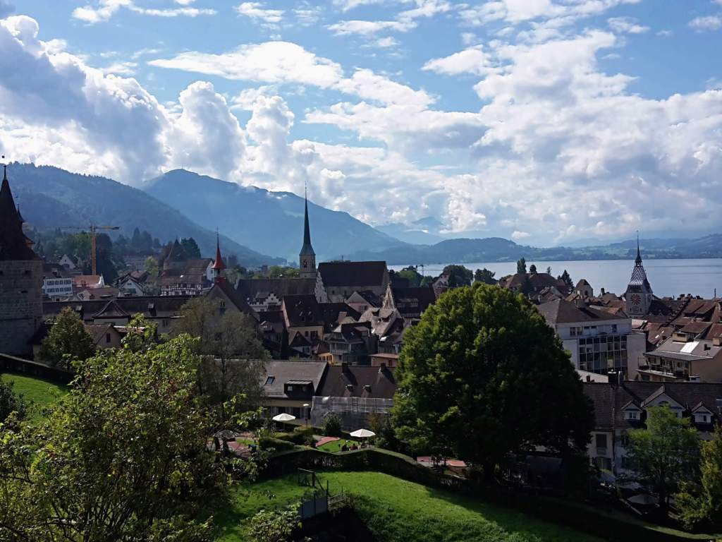 Zug is the city Andrea currently calls her home.
